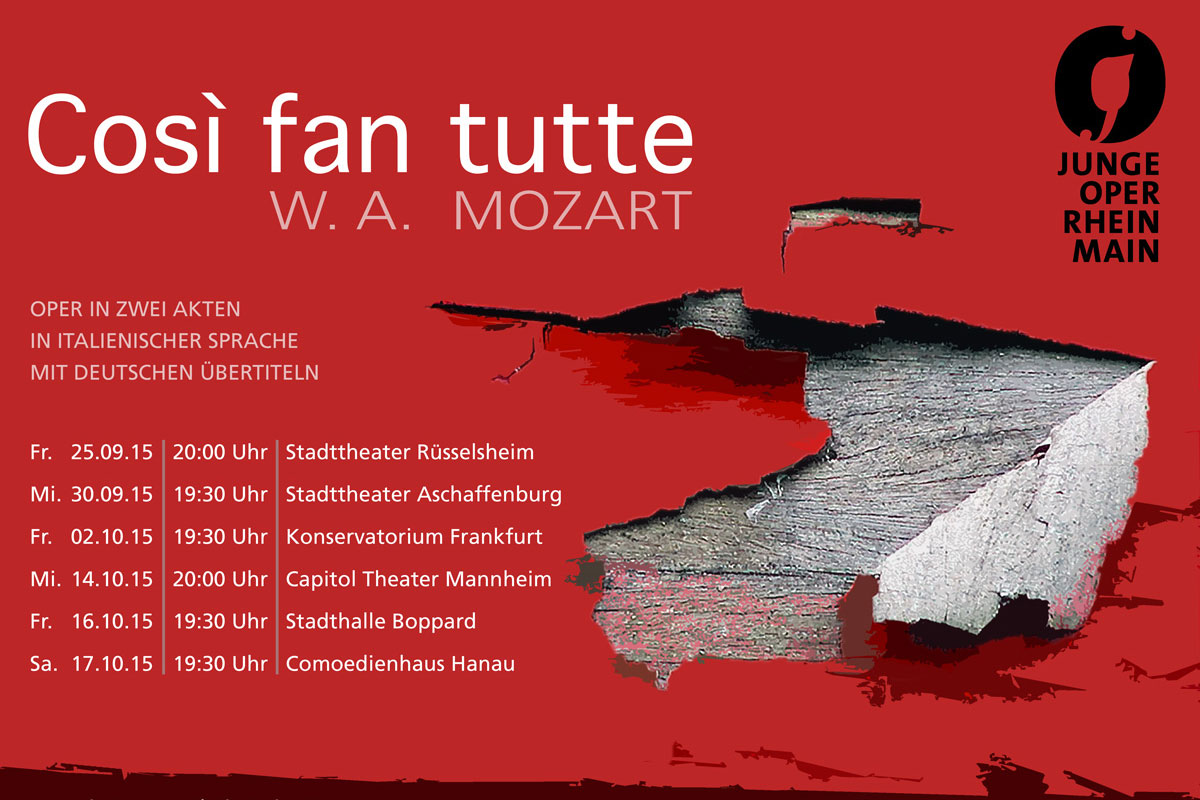 The Junge Oper Rhein-Main on tour with 'Così fan tutte'