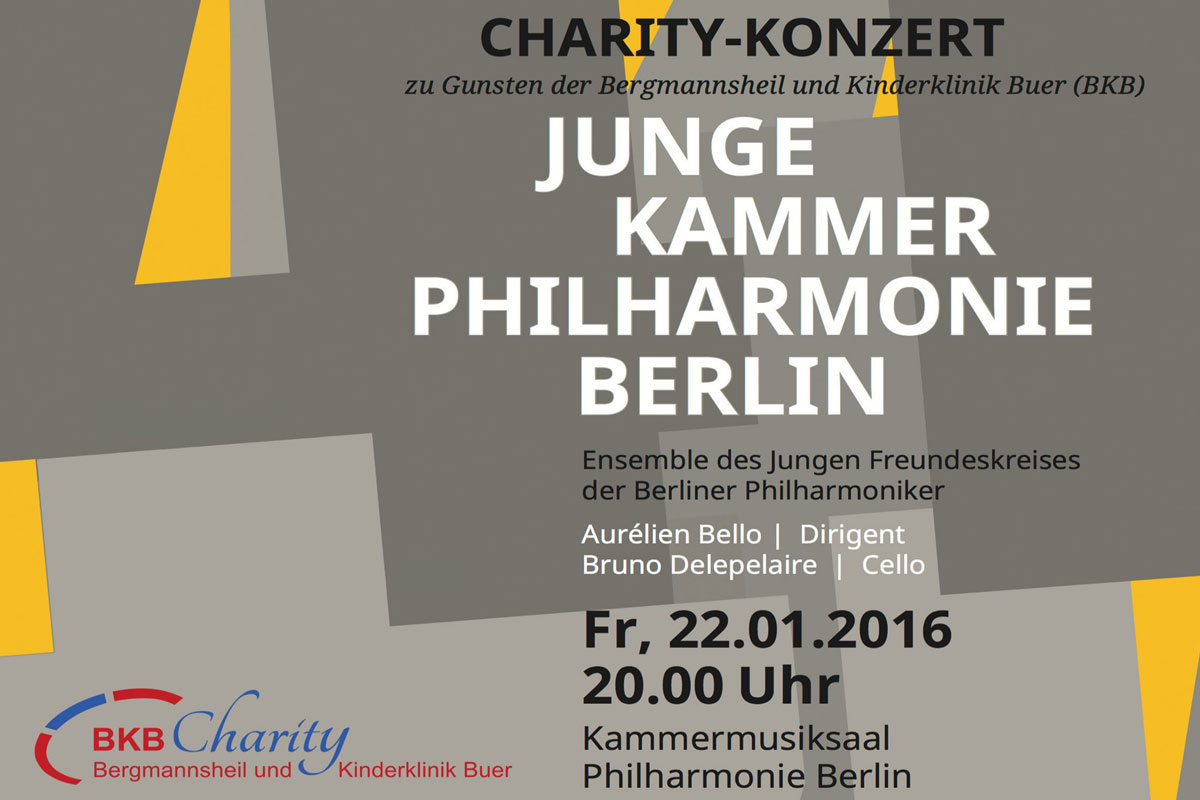 Charity Concert of the Junge Kammerphilharmonie Berlin for the benefit of BKB Charity.